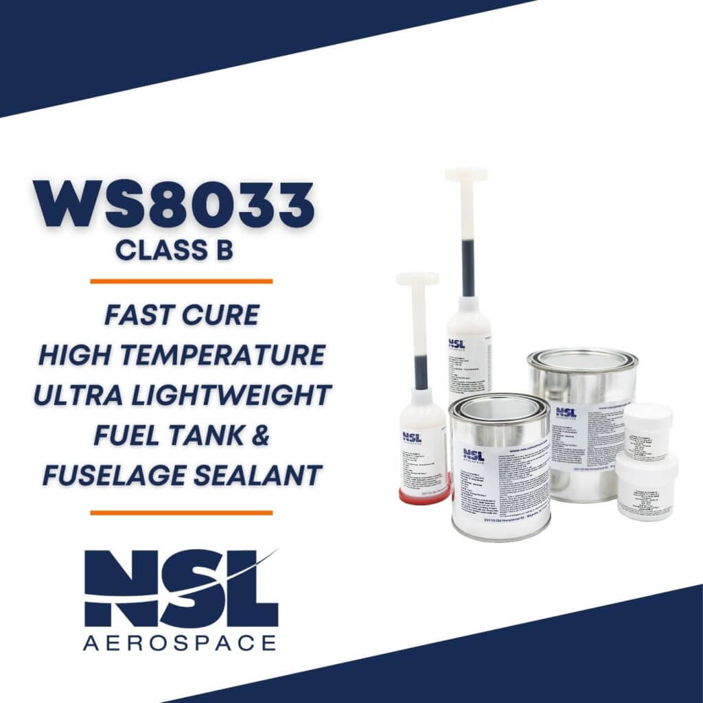 WS8033 Fast Cure High Temperature Ultra Lightweight Fuel Tank & Fuselage